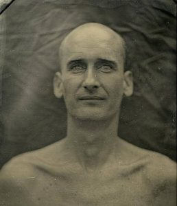 wet plate process photograph of author