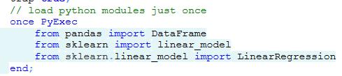 Python in Tradesignal