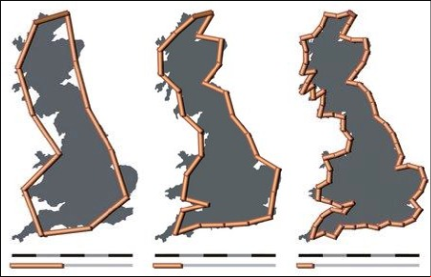 British coastline length paradox